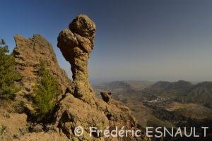 Rocher ruiniforme du Pico de Las Nieves
