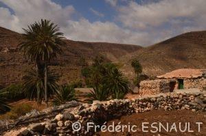 Paysage désertique près d'Ajuy