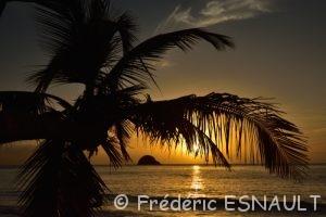 Anse Couleuvre au coucher du soleil